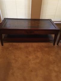Coffee table (leather top)