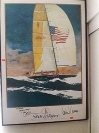 AMERICA'S CUP -- SIGNED BY DENNIS CONNER, ETC.
