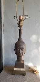 METAL BUDDHA LAMP