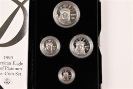 1999 U.S. Mint American Eagle Platinum Bullion Four Coin Proof Set