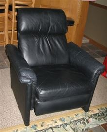 black leather recliner   BUY IT NOW $ 135.00