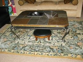 Large slate top coffee table, original price $ 945.00                          BUY IT NOW $ 145.00