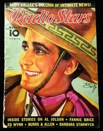 "Vintage ""Radio Stars"" Magazine with Cover Art by Earl Christy- March 1937"