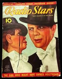 "Vintage ""Radio Stars"" Magazine with Cover Art by Earl Christy- September 1937"