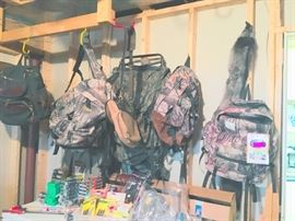 Back packs, cargo packs many different kinds
