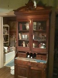 Antique Secretary needs repair, but very beautiful