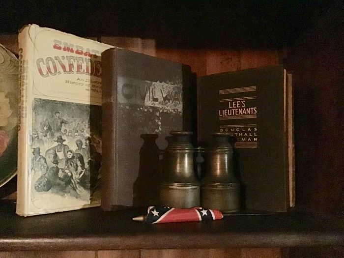 Civil War Books, Brass Binoculars
