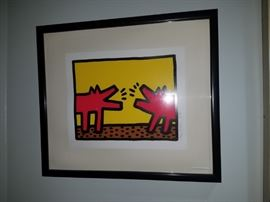 OFFER ACCEPTED! AWAITING PAYMENT Authentic Keith Haring Barking Dogs 178/200     1987           Mint Condition Comes with authenticity paper work.     From Martin Lawrence Galleries   Asking Price $ 32k   We are open to offers, and fully aware of the last few that have sold since 2012.  Please email or text inquires.