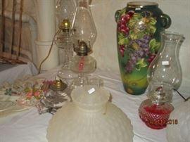 VARIOUS KEROSENE LAMPS