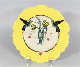 LOT 3 NEW IN BOX NATURE TABLE BY LOU ROTA HUMMINGBIRD PLATE