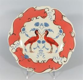 LOT 5 NEW IN BOX NATURE TABLE BY LOU ROTA SCARLET CRANE BIRD PLATE