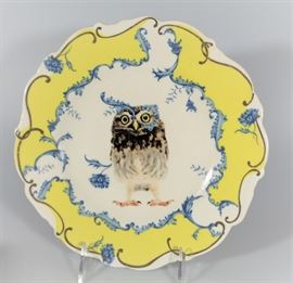 LOT 7 NEW IN BOX NATURE TABLE BY LOU ROTA OWL PLATE