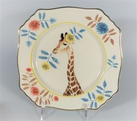 LOT 8 NEW IN BOX NATURE TABLE BY LOU ROTA GIRAFFE PLATE