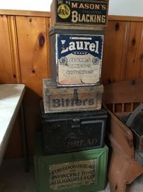 Lots of advertising boxes