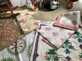 Quilts in fair to good condition