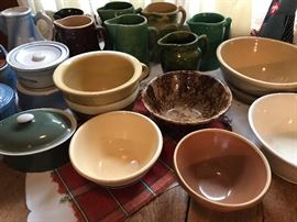 crocks, bowls, pitchers