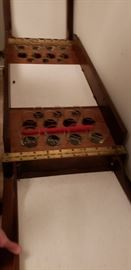 mobile liquor cart complete with barware vintage
