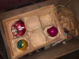 Vintage Christmas ornaments.....