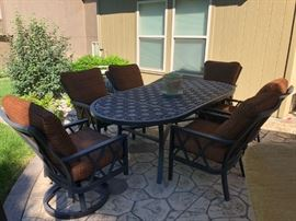 From Pride in Florida the Luxury Castelle Outdoor Living with 8 inch cushions. this patio sets totaled $30,000 new. Check out the quality and craftsmanship. http://castelleluxury.com/the-design-book/