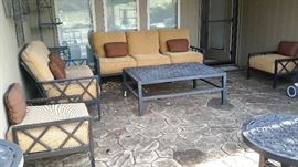 From Pride in Florida the Luxury Castelle Outdoor Living with 8 inch cushions. This patio sets totaled $30,000 new. Check out the quality and craftsmanship. http://castelleluxury.com/the-design-book/   From Pride in Florida, Finished by the hands of an artist, inspired by a sophisticated yet casual sense of lifestyle