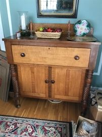 Tiger Maple and cherry buffet/cupboard.  Excellent condition and extremely usable anywhere, even a bedroom.