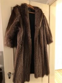 Vintage fur coat.  Boy, do you need this in Rochester!