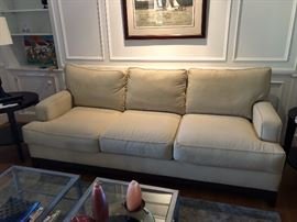 Ethan Allen Sofa In great condition  86 -1/2  ins.long 37 ins. deep 32 -1/2 ins.tall. $450