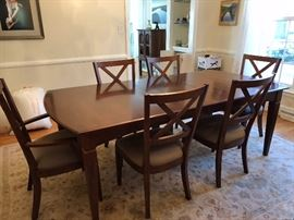 $550  Size 87'' with 2-leave 42'' wide 30'' tall with 8 - chairs
