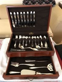 72 piece Stieff Puritan Sterling Silver Set with Box             Beautiful Set - will not be 1/2 off