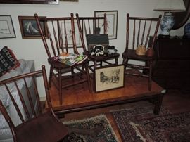 Antique Chairs, coffee table and accessories ...