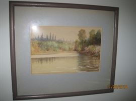 R Goodwin Signed River Scene