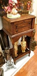 Antique locking silver chest on barley twist legs - purchased from Stan Levy Antiques