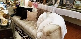 Hollywood Regency style sofa and coffee table