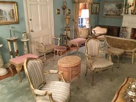 PAIR FAUTEUILS CHAIRS