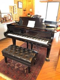 "A wonderful 1999 Schimmel black lacquer grand piano Model SP 182 T #328569 in beautiful condition (about 72"" long & 58.5"" wide). With original bench"