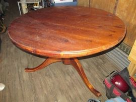 48 all wood table with pedestal