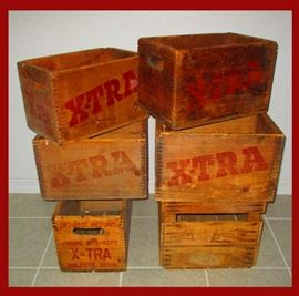Dovetailed Wooden Crates X-TRA Beverage Co. Wolcott Conn. A Family Business that began in the 1940s