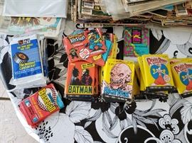 Collectible trading cards. Batman, Roger Rabbit, Fright Flicks and Awesome All Stars!  All sealed unopened.