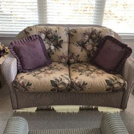 Matching Lloyd Flanders loveseat - very comfortable - made to last