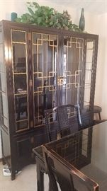 Thomasville Asian Ebony China Hutch