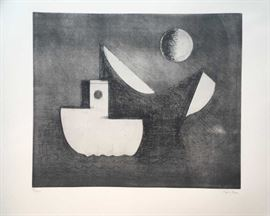 Paul Resika. Signed and numbered etching and aquatint  96/200  23.5'' x 19.5'' in.