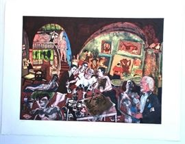 "WARRINGTON COLESCOTT: ""Picasso at Mougins: The etchings"".  Signed, dated, titled and numbered 10/200 in pencil 17.5"" x 23.75"""