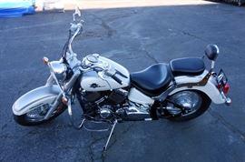 2003 Yamaha V Star Classic XVS650 Motorcycle, 1974 Miles, VIN # JYAVM01E03A053800