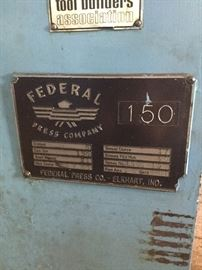 Federal Press faceplate and info.