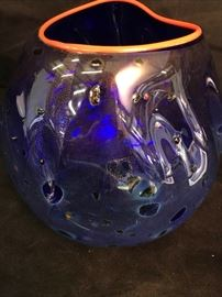 Chihuly The Basket Series Colbalt Blue
