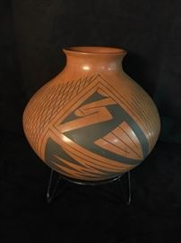 Signed Rosa Lopez Clay Pot