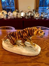 Otto Jarl Keramos Porcelain Tiger c. 1920