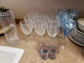 All Purpose stemware, pitcher and votives
