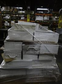 Large Pallet of Metal First Aid Boxes