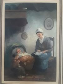 Mother And Child 1961 oil painting.